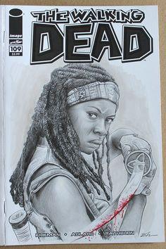 The Walking Dead Custom Comic Cover, Pencil