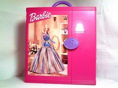 #1 Pink 2000 Mattel Barbie's Doll and Accessories Hard Plastic Carrying Case #Mattel