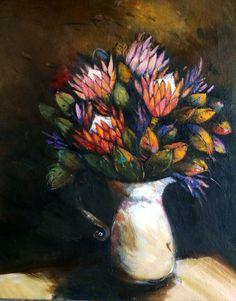 Jug of protea by Liesel Brune