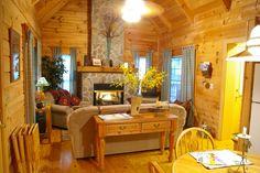 Cozy log #cabin rental in the North Carolina mountains near Asheville