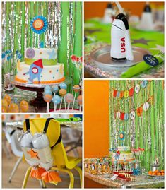 Rocket Ship Birthday Party via Kara's Party Ideas | KarasPartyIdeas.com (1)