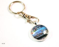 1957 Chevrolet Tri-Five Hot Rod Vintage Auto Key Chain Ring – BlueMorningExpressions Vintage Gifts, Vintage Cars, Vintage Items, Vintage Auto, Gifts For Him, Great Gifts, Crea Fimo, Chevy Classic, Classic Cars