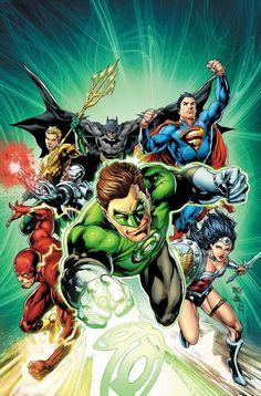 Justice League #44 - Green Lantern variant cover by Ivan Reis, Joe Prado, and Rod Reis.