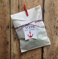Nautical party anchor birthday, party favor bags, favor tags