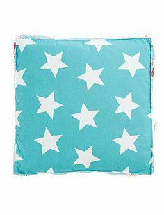 Tolle Boxkissen zum Wenden mit Sternen und Vögeln, oder Paisleys, oder aber kleinen Sternen bedruckt