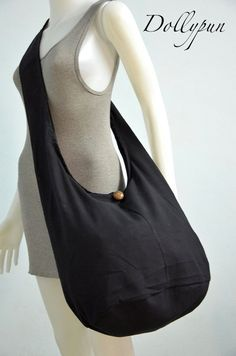 Hey, I found this really awesome Etsy listing at https://www.etsy.com/listing/186212160/black-casual-cotton-hobo-bag-sling-cross