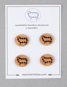 Katrinkles Sheep Buttons