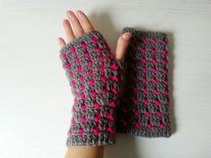 mitenki na szydełku, crochet mittens, video tutorial