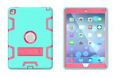 Shockproof Case for iPad Pro Silicone Plastic Hybrid Armor Stand Cover Heavy Duty Tablet Case