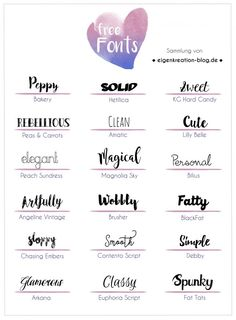 Typo Liebe – Sammlung kostenloser Fonts – Eigenkreation Sponsored Sponsored Typo Liebe – collection of free fonts – own creation Hand Lettering Fonts, Handwriting Fonts, Calligraphy Fonts, Tattoo Writing Fonts, Free Typography Fonts, Fun Fonts, Schriften Download, Best Serif Fonts, Letras Cool
