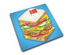 Podkładka/ deska kwadratowa Joseph Joseph Sandwich