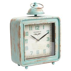 Weathered iron table clock with retro-style Arabic numerals.  Product: ClockConstruction Material: Iron and meta...C.R. Co. Table Clock II $74.95 $111.00