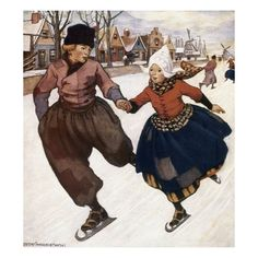 Hans Brinker and the Silver Skates - Mary Mapes Dodge, Illustrated by Jessie Wilcox Smith