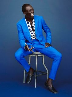 Wilhelmina Models: Details Magazine took a cue from Picasso's Blue Period for their May '14 editorial, where Armando Cabral models a selection of Yves Klein blue suits. Credit: Photography by Billy Kidd and Styling by Benjamin Sturgill. - See more at: wilhelminanews.com