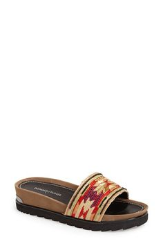 Free shipping and returns on Donald J Pliner 'Cava' Slide Sandal (Women) at Nordstrom.com. An easy slide sandal us designed with a cushy padded footbed, modern lugged sole and logo-embossed, metallic heel rand.