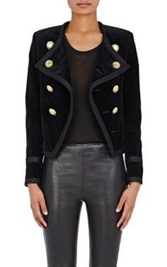 Saint Laurent Velvet Double-Breasted Jacket at Barneys New York