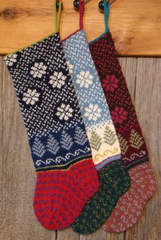 Snow christmas stockings