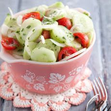 Aunt Peggy's Cucumber, Tomato and Onion Salad Recipe