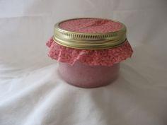 homemade pink sugar scrub