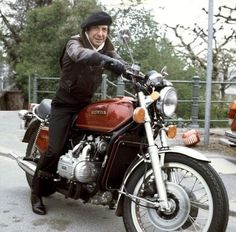 Easy riders: The Runaways, Marc Bolan, Frank Zappa & many more rock stars on motorcycles Leonard Cohen, Adam Cohen, Blue Raincoat, Marc Bolan, Art Of Manliness, Frank Zappa, Easy Rider, Number Two, Montreal
