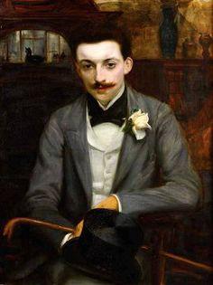 Jacques-Émile Blanche (1861-1942) Portrait de Pierre Louÿs, 1893