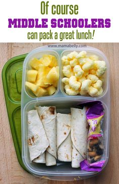 A fun lunch idea: peanut butter tortilla, trail mix, cut up pineapple and Pirate's Booty! Lunch Box Bento, Easy Lunch Boxes, Lunch Snacks, Lunch Recipes, Kid Snacks, Detox Recipes, Whats For Lunch, Lunch To Go, Lunch Meal Prep