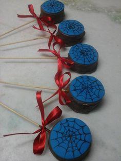 pirulito chocolate homem aranha