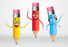 How to Create a Trio of Cute Pencil Characters in Adobe Illustrator  Design Envato Tuts Design & Illustration