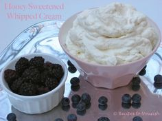 Homemade Honey Sweetened Whipped Cream {Real Food + Nourishing} | Recipes to Nourish