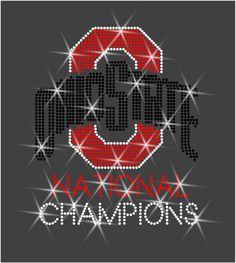 Rhinestone Transfer Ohio State National by BevelliDesigns on Etsy