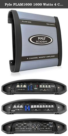 Pyle PLAM1600 1600 Watts 4 Channel Bridgeable Amplifier. The Pyle Academy series is an affordable option to provide high-power, high-quality sound to your vehicle's speakers. Academy amplifiers are sturdy with amp heatsinks and accept both low level RCA inputs as well as high-level, low-impedance MOLEX inputs. So you can rock your tunes no matter what kind of head unit you have. The PLAM1600 is a four-channel, 1600-watt bridgeable amplifier. It's equipped with variable gain control, a...