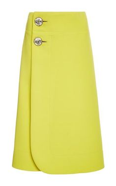 Wraparound wool skirt with jeweled buttons by MARNI Preorder Now on Moda Operandi