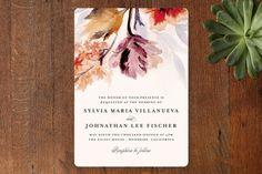 Layout/page set up.   Grecian Floral Wedding Invitations by Olivia Kanaley at minted.com