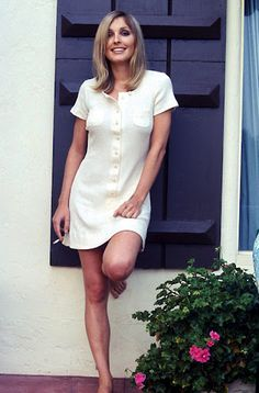 Sharon Tate , maybe at the Cileo house. She was a smoker and did use drugs occasionally , like most in that era.One LSD trip frightened her so much , she stopped taking it; she saw a dead man on the steps in front of her. The incident causes much speculation of a coincidence of a warning of her own death.She had quit smoking in her pregnancy, nor did she drink wine.