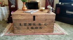 Old Rustic Antique Vintage Style Wooden Chest Trunk Blanket Box Storage Toy Box Travel Shipping Box by Shivermetimbers24 on Etsy