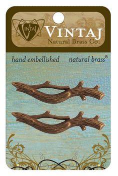 Vintaj Metal Brass Company - Metal Embellishments - Branch at Scrapbook.com $3.00