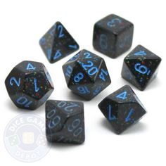 Blue Stars 7-Piece RPG Dice Set