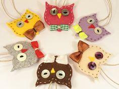 Graduation Gift  Set of 6 OWLS Key chain Felted OWLS by LByEmma, €35.00