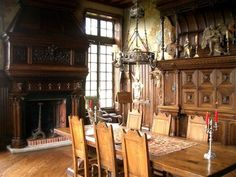 old world gothic style homes | ... century French storybook tudor Old World style manor house interior