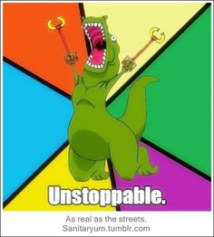 Bahahaha, I LOVE a good T-Rex joke!! Another potential shirt for the nephew.