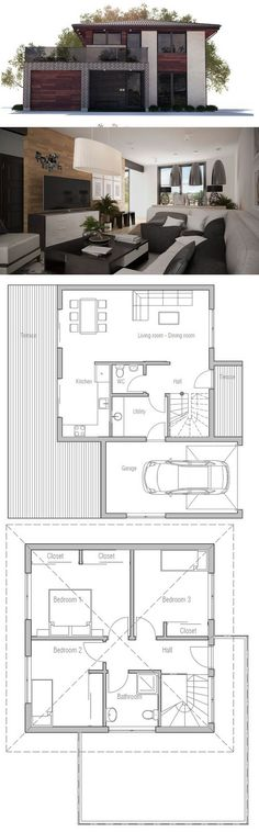 Small House Plan Small House Plans Pinterest Small house plans - plan de maison simple