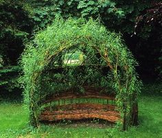 woven willow seat