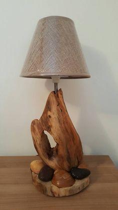 Lampe bois flotté de la boutique benoboisflotte sur Etsy