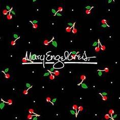 Cherries Black Fabric