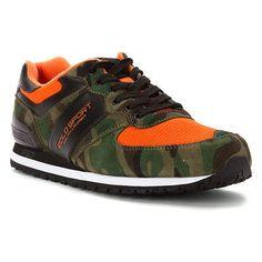 Polo Slaton Sport Mens 809580125-003 Green Orange Camo Athletic Shoes Size 9
