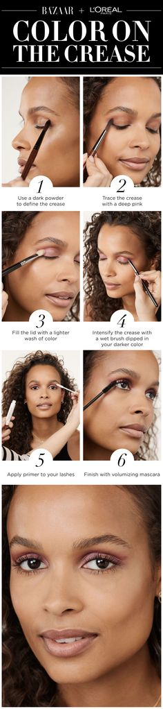 Try this bold crease look inspired by the fall 2017 runways using L'Oréal Paris Voluminous Lash Primer and Voluminous Original Mascara.
