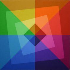 Vierkanten in Perspectief 1-5, 0307, Ger de Joode Design Elements, Design Art, Opt Art, Love Rainbow, Rainbow Wallpaper, World Of Color, Geometric Art, Pattern Wallpaper, Color Splash