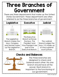 Branches of Government Posters Government Lessons, Teaching Government, Levels Of Government, Branches Of Government, General Knowledge Book, Gernal Knowledge, Knowledge Quotes, Social Studies Worksheets, Social Studies Classroom