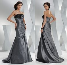 Charcoal Beaded Strapless Lace-Up  Party/Ball/Prom/Evening/Formal Dress Sz 10 #BallProm