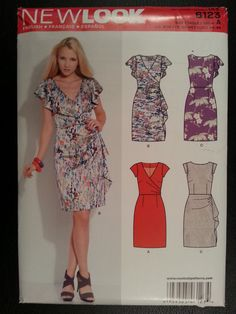 New Look 6123 Misses Dress with Sleeve and Bodice Variations sewing pattern sizes 8-10-12-14-16-18 by Noahslady4Patterns on Etsy
